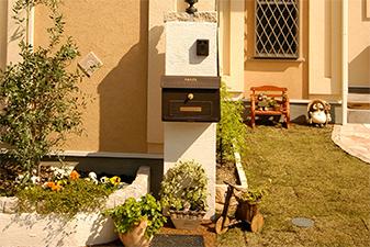 玄関前に飾る表札